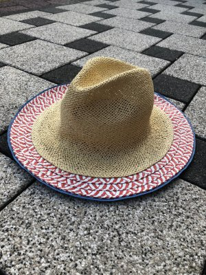 Zara Chapeau de soleil multicolore tissu mixte