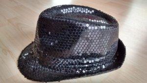 Sombrero de terciopelo negro Poliéster