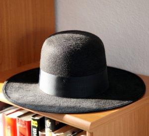 Sombrero de fieltro negro-gris antracita