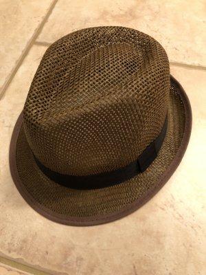 Cappello di paglia nero-marrone