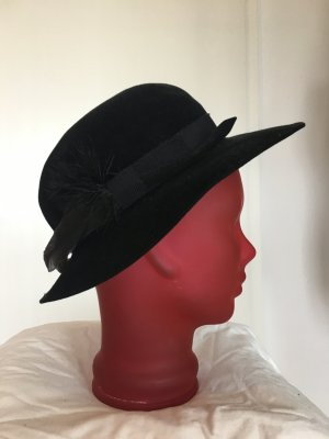 Felt Hat black mixture fibre