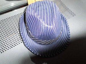 Cappello in feltro blu-bianco Materiale sintetico