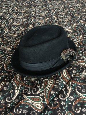 Brixton Vilten hoed zwart Wol
