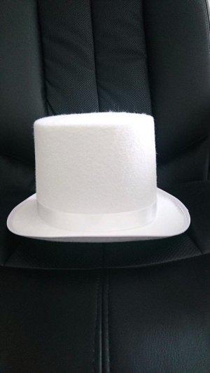 Cappello in feltro bianco