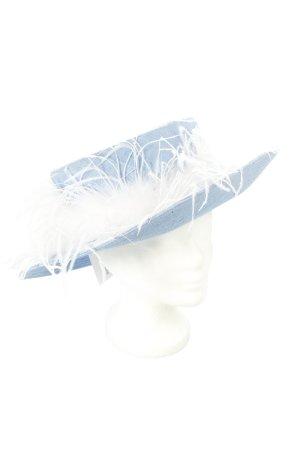Hutsalon Henny Cappello azzurro-bianco stile stravagante
