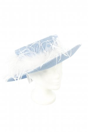 Hutsalon Henny Hat light blue-white extravagant style
