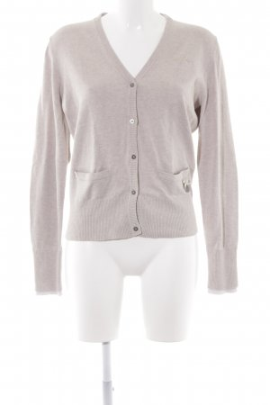 HV Polo Strickjacke hellbeige Casual-Look