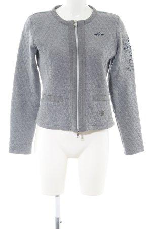 HV Polo Veste sweat gris clair moucheté style décontracté