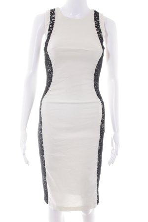 Hybrid Vestido de tubo crema-negro elegante