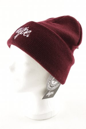 Hype Beanie bordeaux embroidered lettering casual look