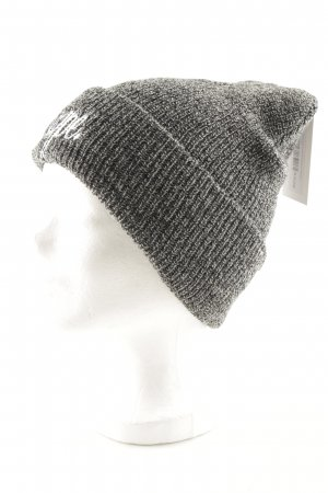 Hype Beanie grey-black flecked casual look