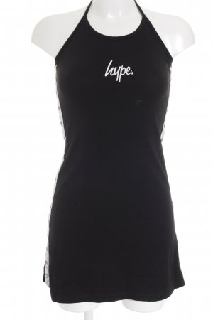 Hype Minikleid weiß-schwarz Casual-Look