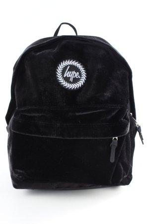 Hype Schoolrugzak zwart straat-mode uitstraling