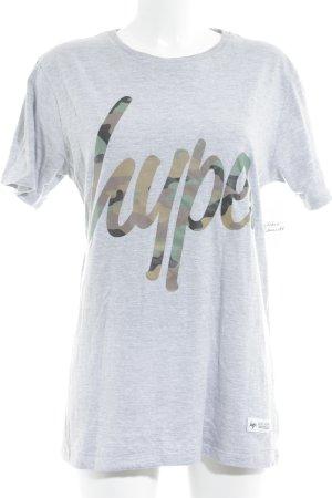 Hype T-Shirt hellgrau Schriftzug gedruckt Skater-Look