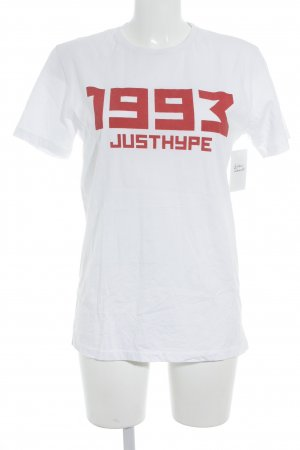 Hype T-Shirt weiß-rot Motivdruck Casual-Look