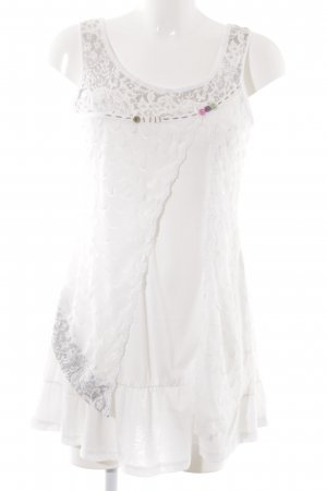 Hypnosy Long Top white-grey floral pattern casual look
