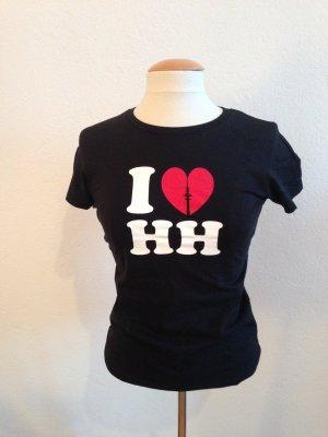 I <3 HH Tshirt, Shirt, Hamburg, schwarz, Gr. 38, neu