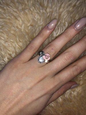 I am Ring mit Steinen, rosa