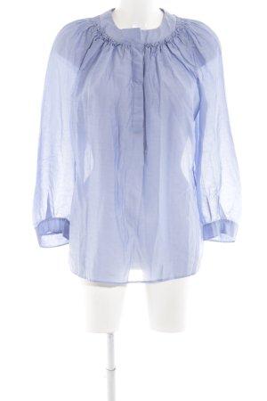 i heart Langarm-Bluse blau Business-Look
