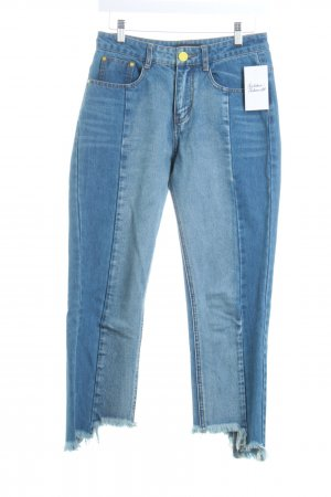 I Love Friday High Waist Jeans blau Street-Fashion-Look