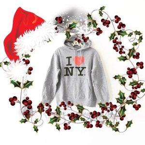 I love NY • hoodie • sweater • grau • vintage • casual