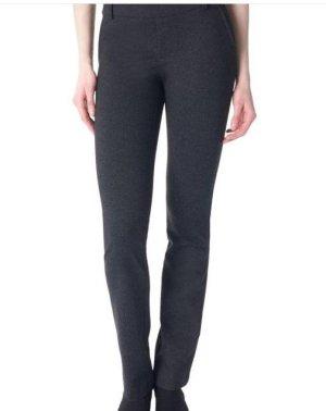 Pantalon taille basse gris foncé-blanc cassé tissu mixte