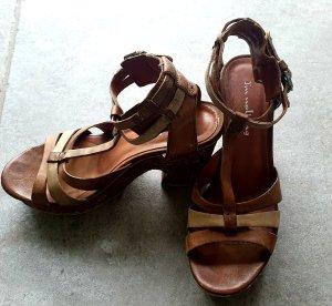 I am walking Sandalias de tacón con barra en T marrón claro-marrón arena