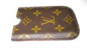 Louis Vuitton Mobile Phone Case brown leather