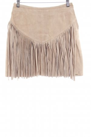 Ibana Leather Skirt camel Gypsy style