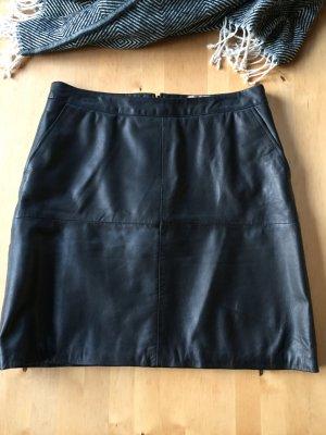 Ibana Falda de cuero negro