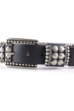 Ibel Studded Belt black-silver-colored extravagant style