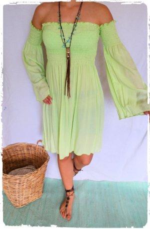 Vestido Hippie verde pradera