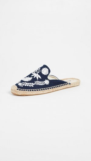SOLUDOS Sabots white-dark blue