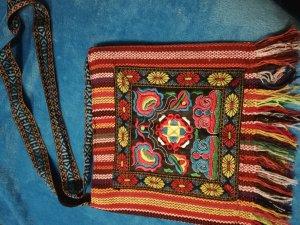 Borsa di tela multicolore