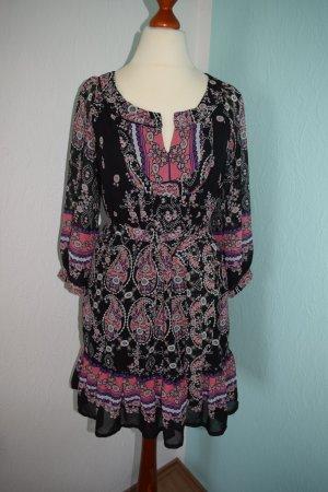 Ibiza Hippie Style Kleid Schwarz Rosa XS 34/36