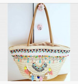 Lookbookstore Bolso tipo cesta multicolor