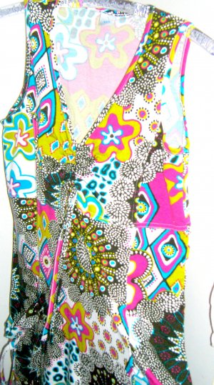 Ibiza-Longtop /Kleid bunt stretch