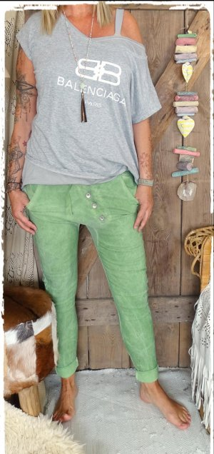 Boyfriend Trousers lime-green-green mixture fibre