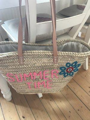 Ibiza Strand Shopper mit Leder bestickt neu