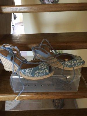 Deichmann Espadrille Sandals azure-light blue