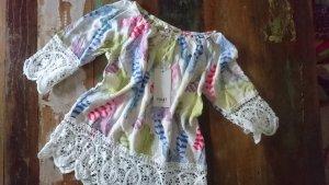 Blusa a tunica multicolore