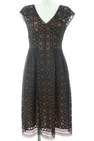 iBlues Midi Dress black-nude elegant