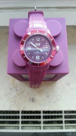 Ice watch Armbanduhr in lila violette mit gummiband