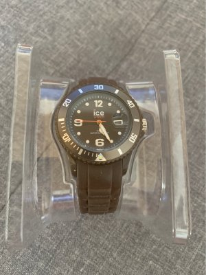 Ice watch Analog Watch grey brown-white synthetic material