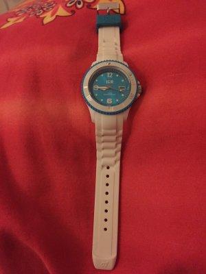 ICE WATCH Damen Uhr Armbanduhr Gr. Medium weiß-türkis neuwertig
