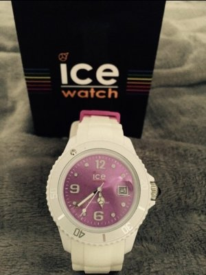 Ice Watch Uhr in violett/weiß :)
