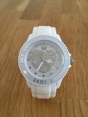 ICE Watch weiß mit Strass-Herz, neue Batterie