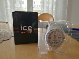 Ice Watch Weiß Silikon Quarz Uhr Original verpackt