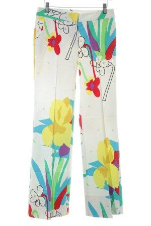 Iceberg Pantalon à pinces motif floral style décontracté