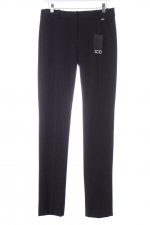 Iceberg Bundfaltenhose schwarz Business-Look